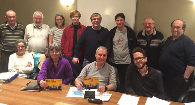 Some Party members from Hitchin at a recent meeting